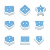 Micronesia flags icons and button set nine styles Royalty Free Stock Photography