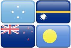 Micronesia, Nauru, New Zealand, Palau Royalty Free Stock Photo