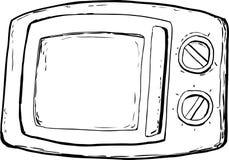 Microonda resumida Oven With Closed Door Fotografía de archivo libre de regalías