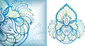 Microorganismo di vita di mare illustrazione vettoriale