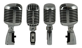 Microphone 1. Professional old fashioned microphone over white 1 Royalty Free Stock Image
