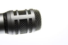 Microphone. A dynamic omnidirectional microphone shot very close up Royalty Free Stock Images