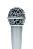 Microphone. Beautiful new microphone on a white background royalty free stock photography