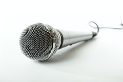 Microphone. On a white background royalty free stock image