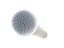 Microphone. A microphone on a white background Royalty Free Stock Images