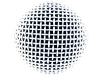 Microphone. A microphone on a white background Royalty Free Stock Photography