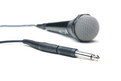 Microphone. Isolated on white background royalty free stock photos