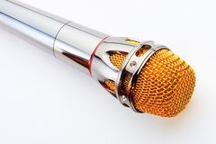 Microphone. On a white background Royalty Free Stock Images