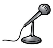 Microphone. Cartoon vector illustration of a microphone Stock Photo