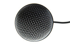 Microphone. On a white background stock photography