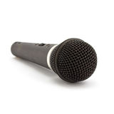 Microphone. Black classic microphone isolated on white background Royalty Free Stock Photo