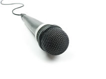Microphone. With shadow on white background royalty free stock image