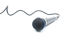 Microphone. With shadow on white background royalty free stock photos