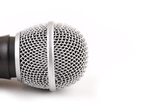 Microphone. Close-up of retro microphone head isolated on white background royalty free stock photography