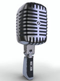 Microphone. Retro microphone on a white background Royalty Free Stock Images