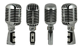 Microphone 2. Professional old fashioned microphone over white 2 Royalty Free Stock Photo