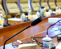 Microphone. Press Conference microphone jiangxi china Royalty Free Stock Image
