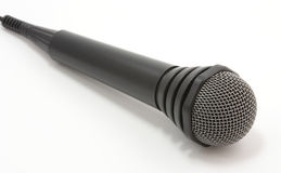 Microphone. Close up over white background Stock Photo