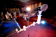 Microphone. Close up microphone in event party stock photography