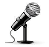 Microphone. Vector illustration of microphone on white background