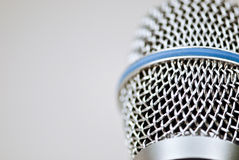 Microphone. Close up of a professional studio microphone royalty free stock photos