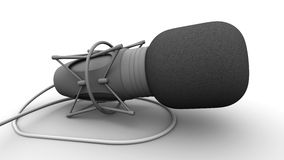 Microphone. Rendered professional microphone on white background royalty free stock photo
