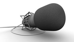 Microphone. Rendered professional microphone on white background stock illustration