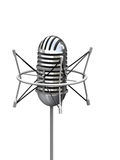Microphone. Retro professional microphone over white Royalty Free Stock Photos