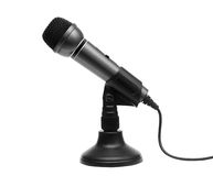 Microphone. Black microphone with white background stock photos
