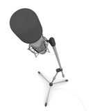 Microphone. Isolated studio microphone on white background royalty free illustration