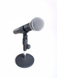 Microphone. Isolated on a white background royalty free stock photography