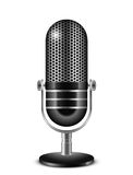 Microphone. Vector illustration of retro microphone Royalty Free Stock Images