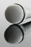 Microphone. And audio jack cable. Can be used in a music concept Royalty Free Stock Image