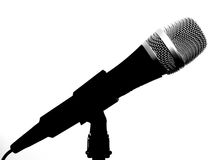 Microphone. Isolated on a white background stock illustration