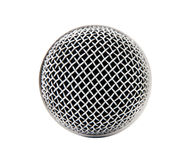 Microphone. Head microphone isolated on white background royalty free stock photos