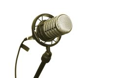 Microphone. On stand in the studio Royalty Free Stock Image