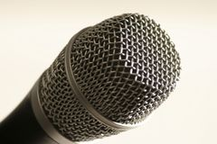 Microphone. Single Microphone close up detail Stock Images