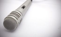 Microphone. With shadow vingette Royalty Free Stock Photography