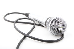 Microphone. Metal microphone on a white background Stock Photo