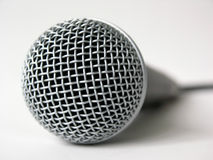 Microphone. Close up royalty free stock photo