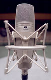 Microphone. On the stage - Music and sound royalty free stock photos