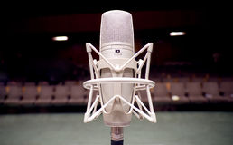Microphone. On the stage - Music and sound stock photography