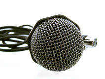 Microphone. Classical microphone isolated on white Royalty Free Stock Photo