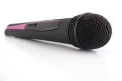 Microphone. Wireless microphone isolated on white Royalty Free Stock Photo