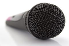 Microphone. Wireless microphone isolated on white Royalty Free Stock Images