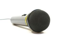 Microphone. Black microphone isolated on white background stock images