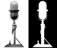 Microphone. 3d render of old styled microphone. front view royalty free illustration