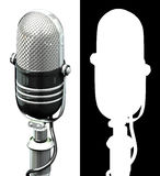 Microphone. 3d render of old styled microphone. perspective view royalty free illustration