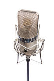 Microphone. In vintage style, isolated on white Royalty Free Stock Photo