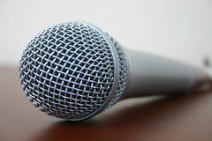 Microphone. Close-up of microphone stock image